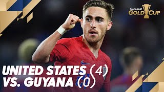 United States (4) vs. Guyana (0)  - Gold Cup 2019