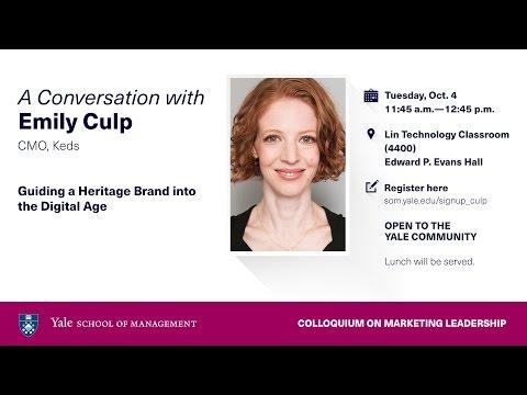 Emily Culp, Keds' CMO - Colloquium on Marketing Leadership