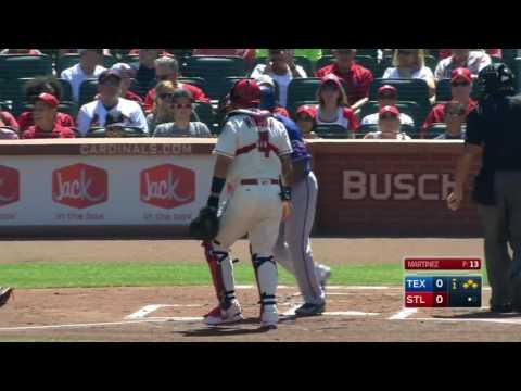 June 18, 2016-Texas Rangers vs. St. Louis Cardinals