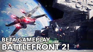 Star Wars Battlefront 2 MULTIPLAYER BETA GAMEPLAY! (Space and Ground!) TIE FIGHTER, STORMTROOPERS