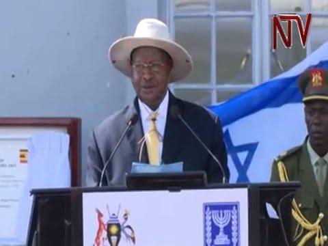 President Museveni speech at Entebbe during Netanyahu's visit commemorating Entebbe raid