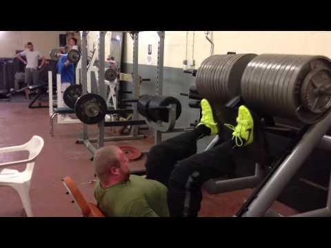 Jack McIntosh Is Back ! :) 500kg Leg Press X6