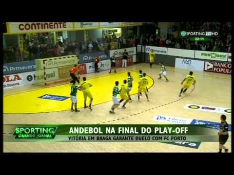 Andebol :: Play-off 1/2 Final 4Jogo :: ABC - 26 x Sporting - 37 de 2014/2015