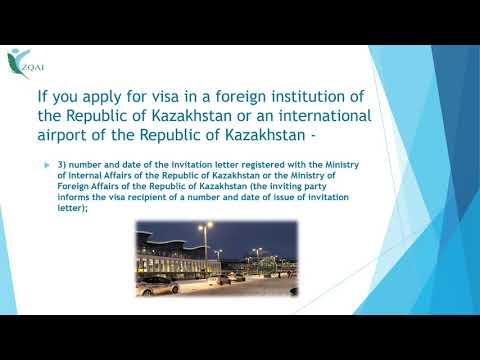 Rules for entry and stay of foreigners in the Republic of Kazakhstan