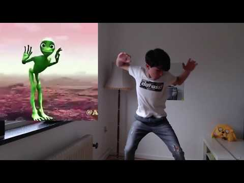 Funny Asian Boy Dancing Frog!!