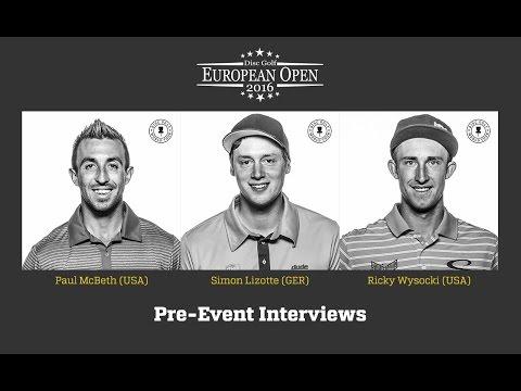 DGWT EO2016 Pre-Event Interviews (McBeth, Wysocki, Lizotte)
