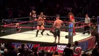 Mixed Tag Team Match- John Cena, Nikki Bella & Dolph Ziggler vs Baron Corbin, Carmella & The Miz