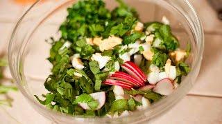 [ЗОЖ] Готовим вкусный салат из сныти в Нижнем Новгорде