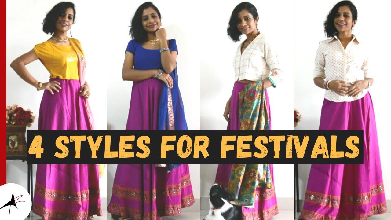 Different Ways To Style Lehenga {Tops & Jewellery Ideas}