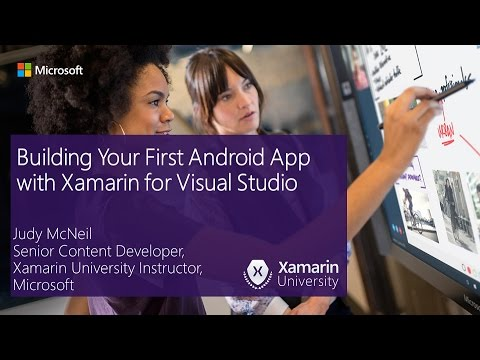 Building Your First Android App with Xamarin for Visual Studio   YouTube Building Your First Android App with Xamarin for Visual Studio