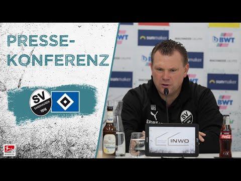 Pressekonferenz   nach dem Spiel   SV Sandhausen - Hamburger SV
