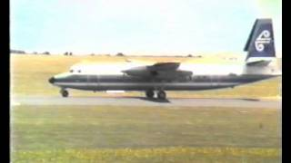 Aircraft Fokker Friendship at Nelson Airport.New Zealand.1986.
