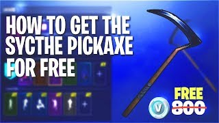 How to get the Sycthe / Reaper Pickaxe for FREE in Fortnite! + Candy Axe! (NO LONGER WORKING)