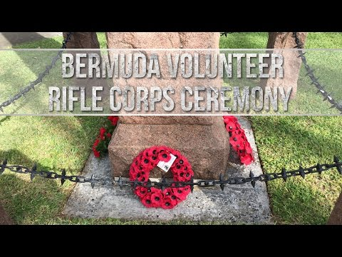 Bermuda Volunteer Rifle Corps Wreath Laying, November 11, 2016