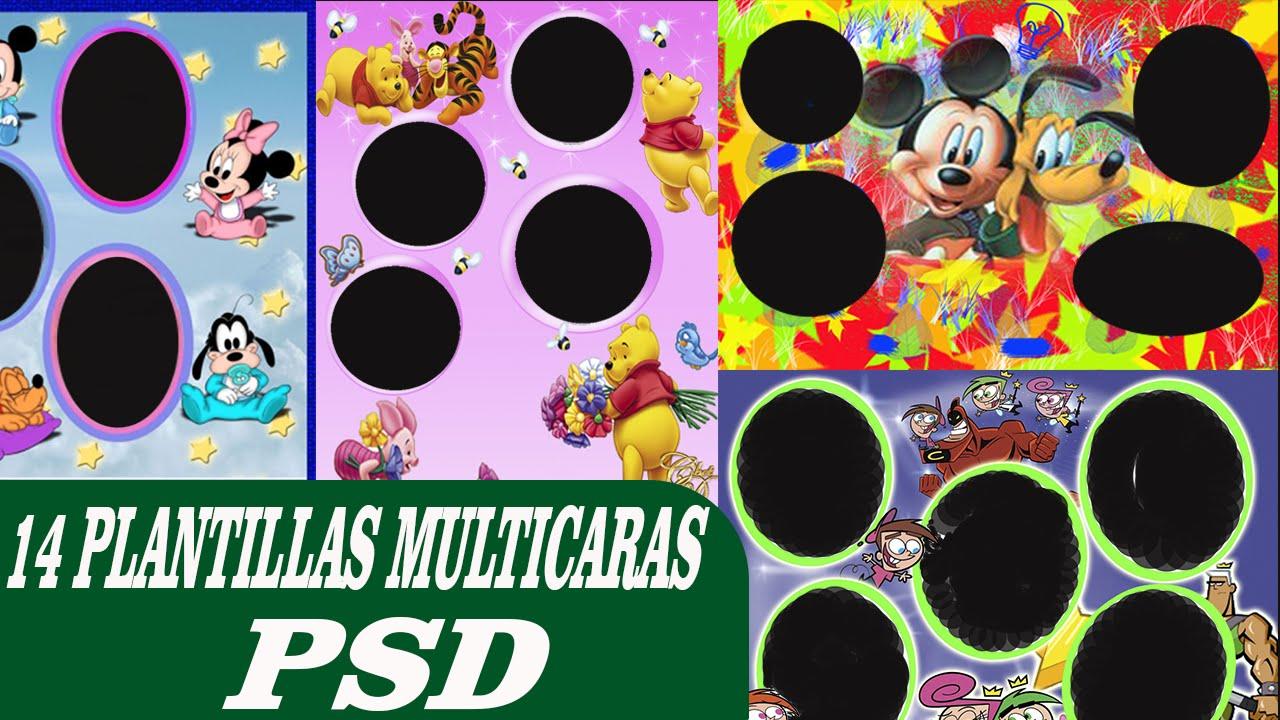 14 Plantillas Multicaras psd - editables en photoshop CC ...