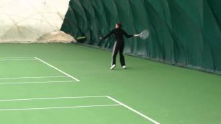 Istvan Gulyas, Katalin Marosi practicing at the National Training Center