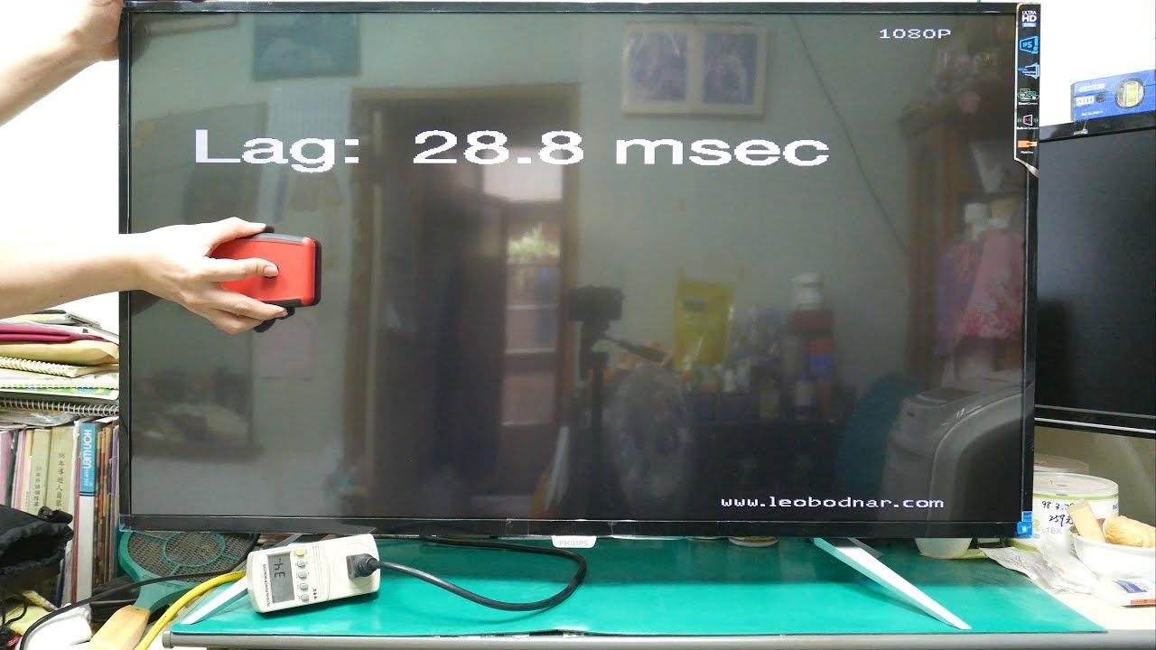 lagtest philips bdm4350uc input lag test youtube