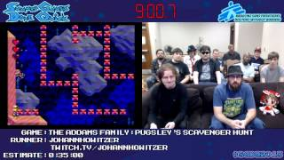 The Addams Family: Pugsley's Scavenger Hunt Snes :: Speed Run (0:21:41) #sgdq 2013