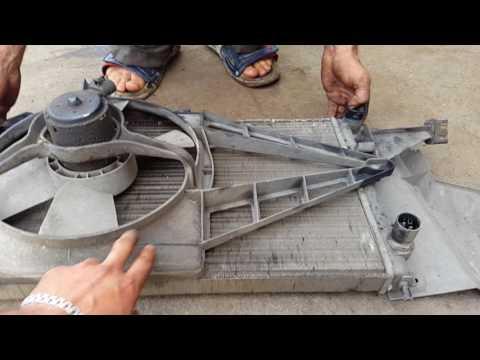 снятие и промывка радиатора опель векта А