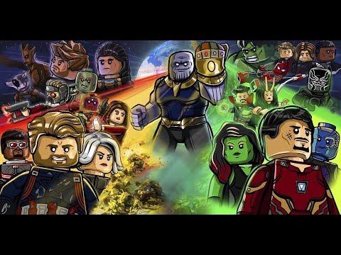 Avengers infinity war rap battle in Lego
