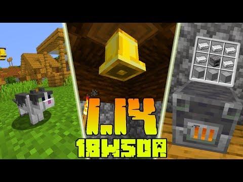 Minecraft 1.14: [Snapshot 18w50a] Co Nowego? Funkcjonalne Beczki, Piece Hutnicze, Dzwony! Nowy Kot!