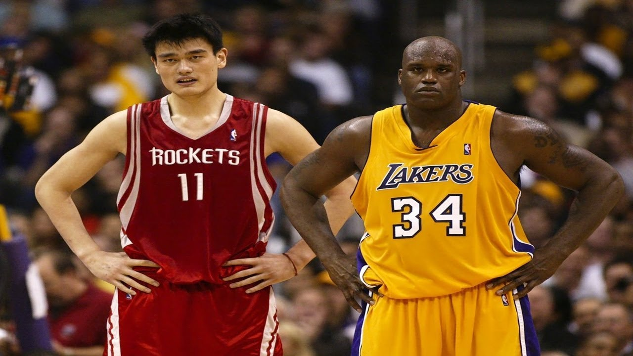 Every Yao Ming and Shaq 3 Pointer of Their Careers - YouTube