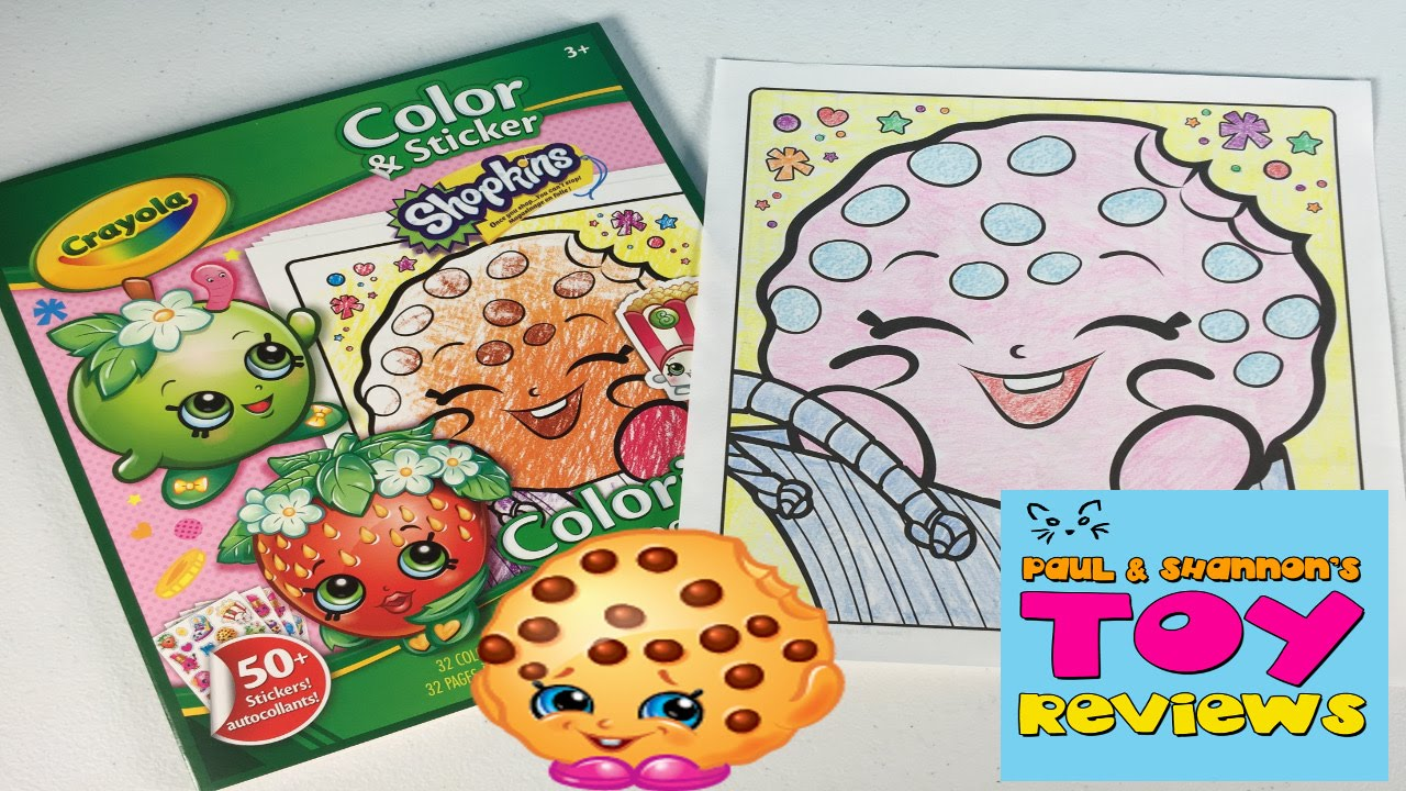 Shopkins Crayola Coloring Pages Let S Color Kooky Cookie