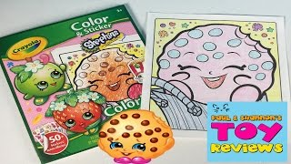 Shopkins Crayola Coloring Pages | Let's Color Kooky Cookie | PSToyReviews