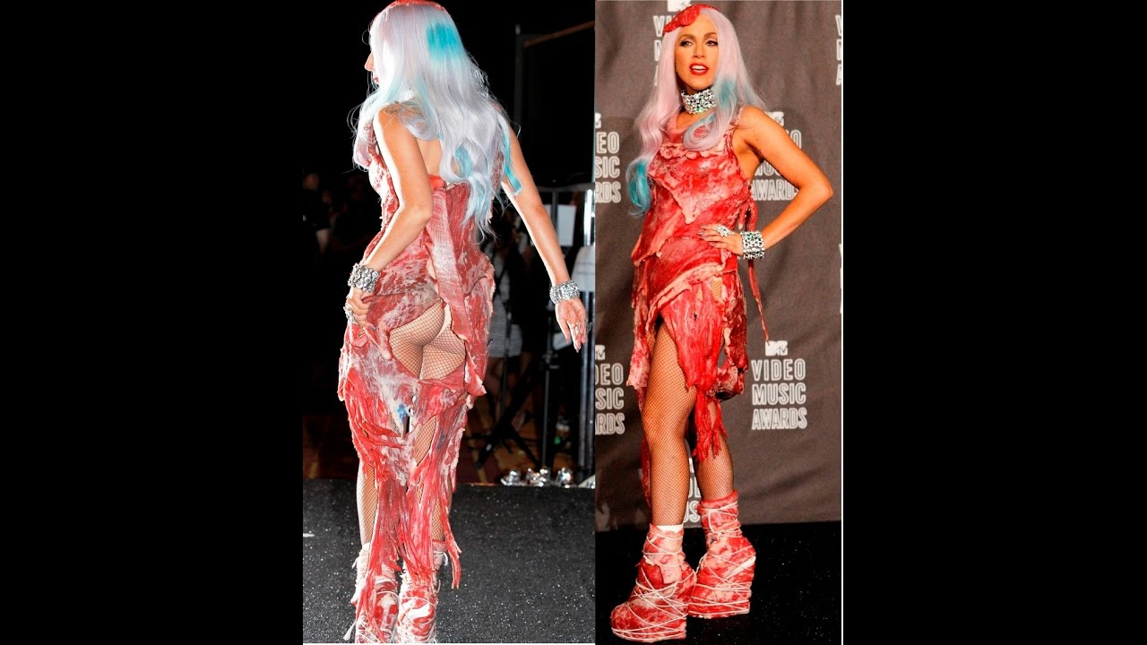 LADY GAGA WEARS MEAT DRESS!!!..MUST WATCH!!! - YouTube