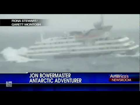 Big Cruise Ship Crippled By Foot Wave In Rough Ocean Near - Big wave hits cruise ship
