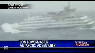 Big Cruise Ship crippled by 30 foot wave in rough ocean near Antarctica
