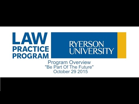 Program Overview with UofT Law &  Western Law Alumni - October 29 2015