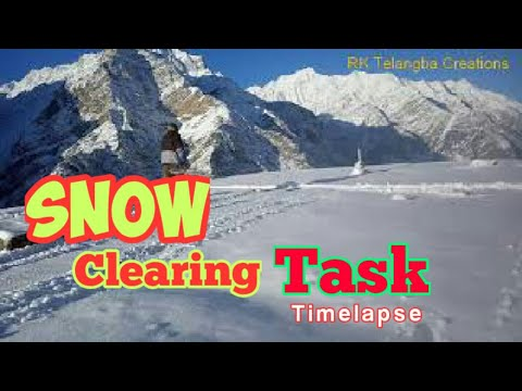 Snow Clearing Task at Lahaul Spiti