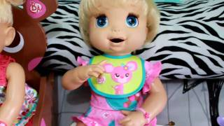 Feeding my Real Surprises Baby Alive Alice Part 1♥ [HD]