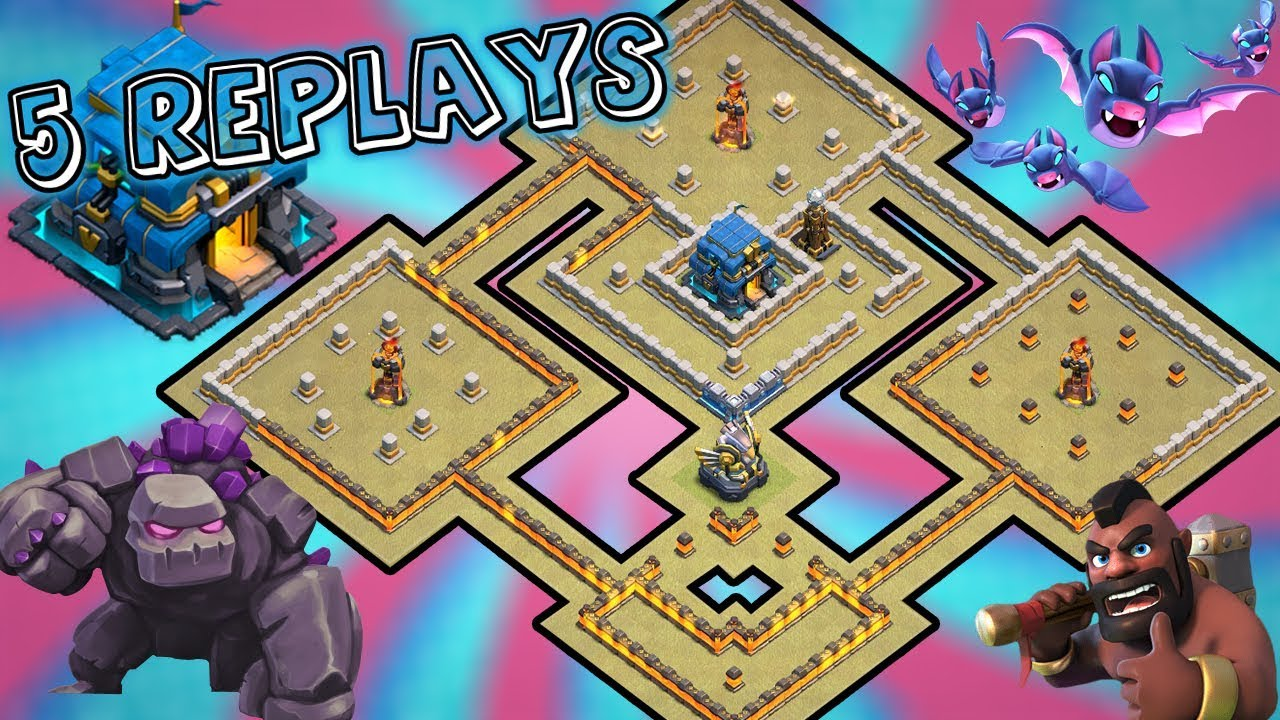 Download Anti 2 Star Th12 War Base 5 Replays 2019 (With Link) | Anti 2/3 Star Air & Ground | Clash of Clans