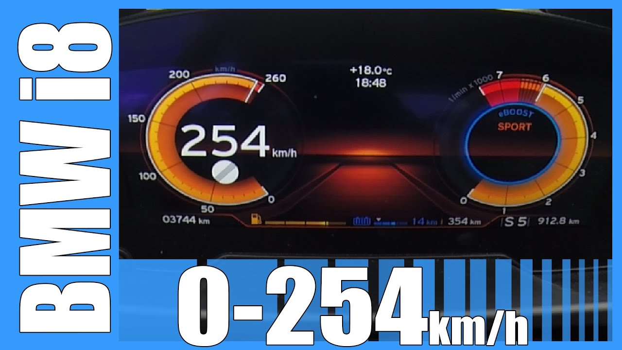 Bmw I8 Acceleration Fast 0 254 Km H Beschleunigung Top Speed
