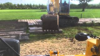 Laying Concrete Sleeper Cow Tracks