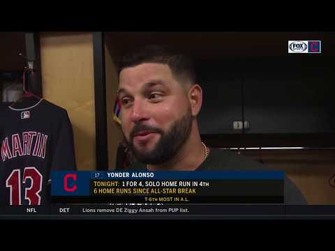 Yonder Alonso reveals who his favorite teammate is | INDIANS-TWINS POSTGAME