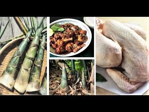 BOIL CHICKEN with BAMBOO-SHOOT WATER | New Style /Recipe from the Hills/ Best Cooked