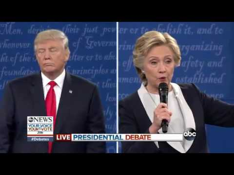 2nd PRESIDENTIAL DEBATE: Hillary Clinton, Donald Trump on Selection of Supreme Court Justi