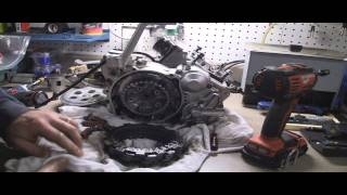 YZ125 Tear Down Part 3: Removing  2 stroke Clutch, Clutch Basket, & Discs