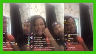 Awkward Kenya Moore Marc Daly Publicly Disagree About Baby Shower On Instagram Live Youtube