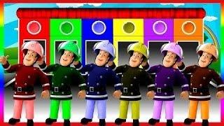 Bombeiro sam cores para as crianças a aprender com cores sam - cores para as crianças a aprender