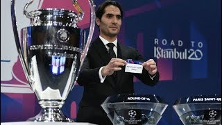 UEFA Champions League Draw - Round of 16, 2019/20 - FULL REACTION