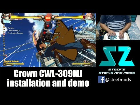 Crown CWL-309MJ Korean Joystick install and demo on HRAP3
