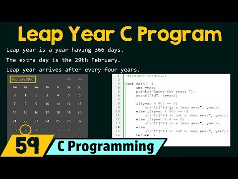 Special Programs in C − Check Leap Year