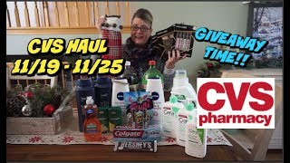 CVS HAUL 11/19 -11/25 | AWESOME DEALS & STOCKING GIVEAWAY!!!