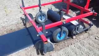 Maszyna do rozkładania agrowłókniny foli - plastic mulch layer