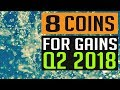 8 Coins With HUGE Potential In Q2 2018!