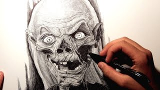 TALES OF THE CRYPT DRAWING (THE CRYPT KEEPER)